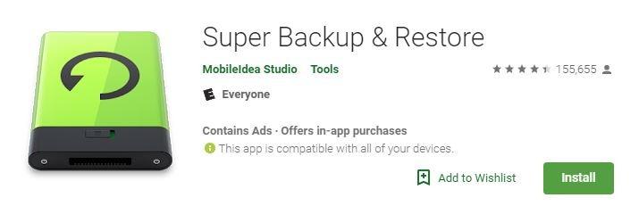 Android Backup Apps Super Backup