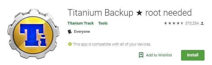 Android Backup Apps Titanium