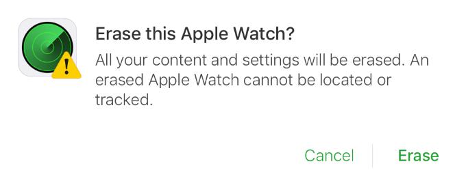 Apple Watch Unpair Erase This Apple Watch
