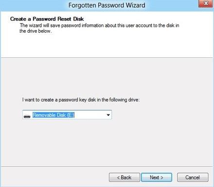 Create Password Reset Disk Usb Drive