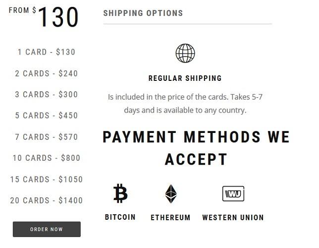 Credit Cards Steep Discounts Dark Web