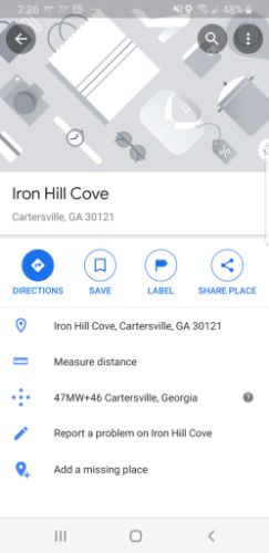 Google Map Pins Dropped Pin Options