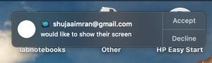 Mac Screen Sharing Request