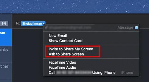 Mac Screen Sharing Share