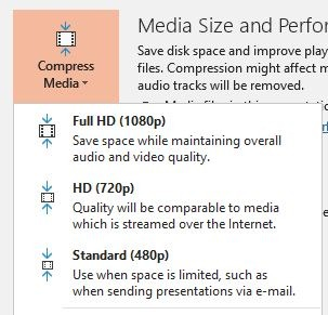 Reduce Size Powerpoint Compress Media Files Quality