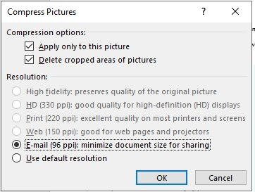 Reduce Size Powerpoint Compress One Image Choose Ppi