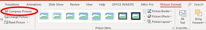 Reduce Size Powerpoint Compress One Image Format