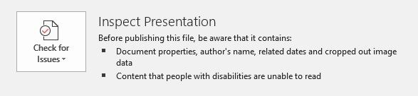 Reduce Size Powerpoint Image Edits Check Issues