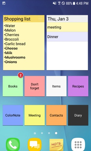 Best Grocery Shopping List App Android Colornote