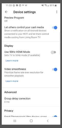 Cast Amazon Videos Use 50hz
