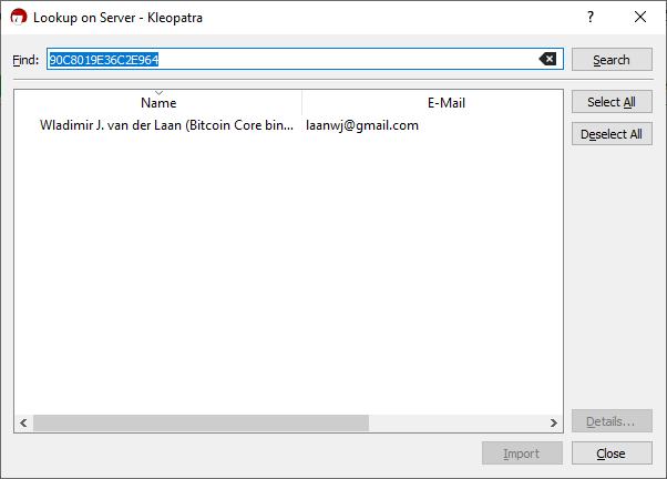 Check Software Signatures Key Fingerprint
