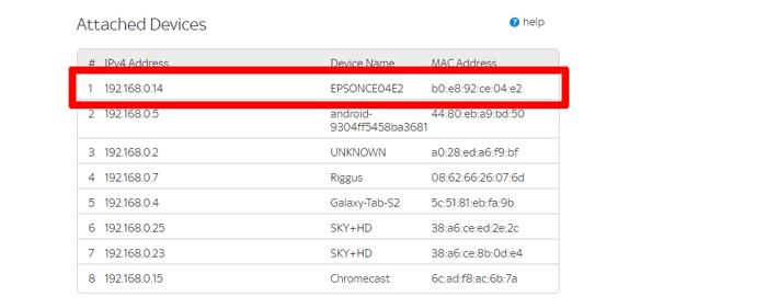 आईपी एड्रेस नेटवर्क प्रिंटर राउटर का पता लगाएं
