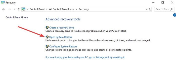 Fix Copy Paste Not Working Windows Control Panel Recovery Open System Restore