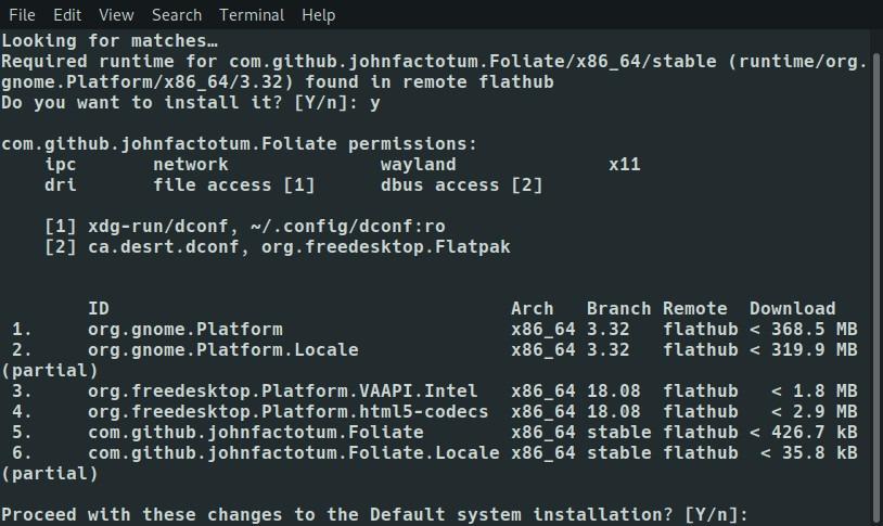 Flatpak Foliate Dependencies