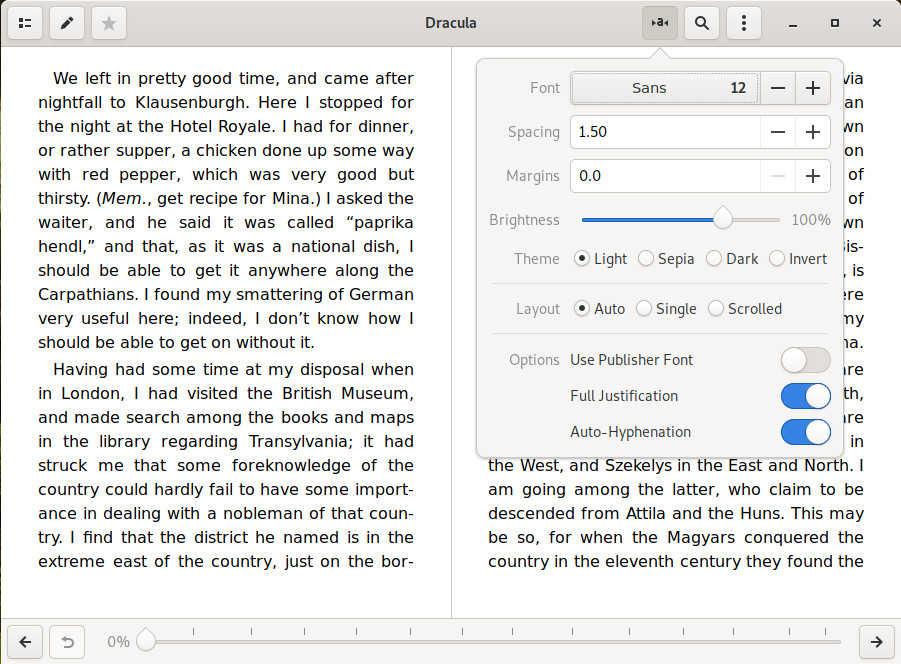 Foliate Text Settings