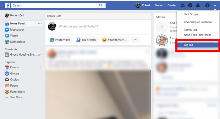 How To Log Out Of Facebook Log Out