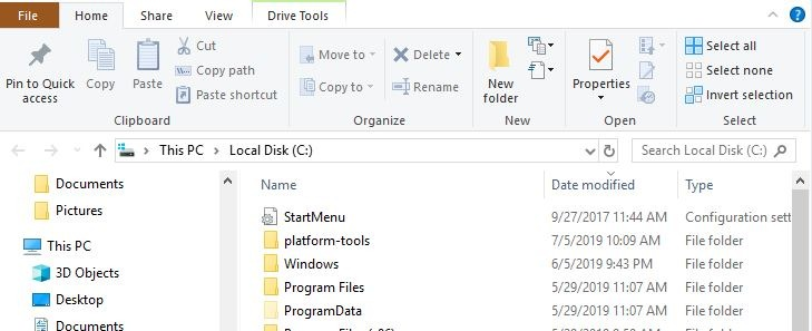 Installling Adb Find Platform Tools