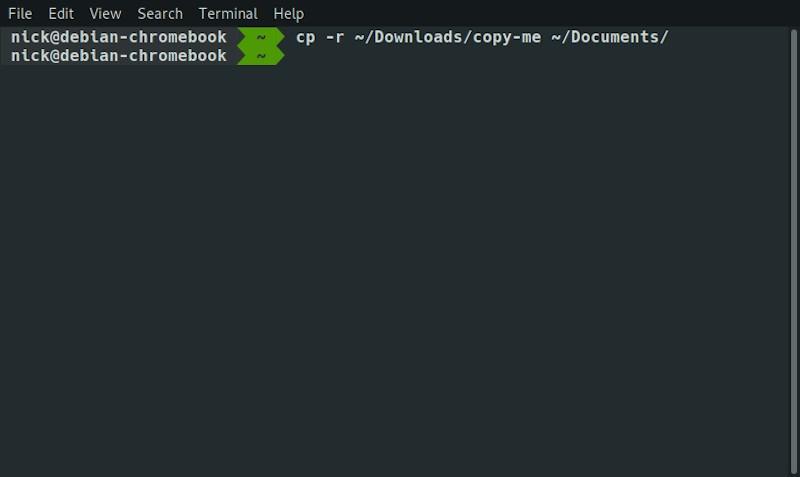 Linux Cli Copy Folder