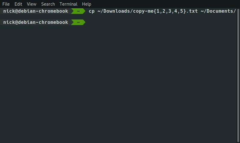 Linux Cli Copy Multiple