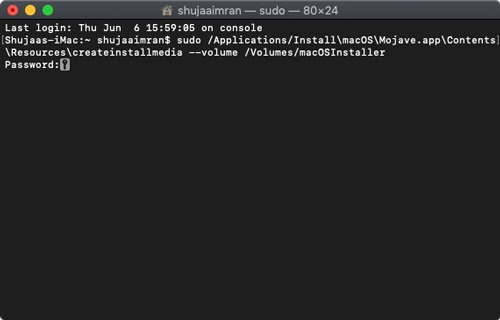 Macos Installer Terminal Command