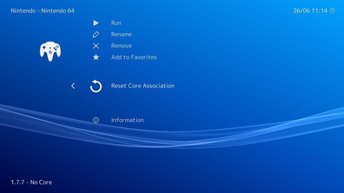 N64 Retroarch Emulation Guide Reset Core Association