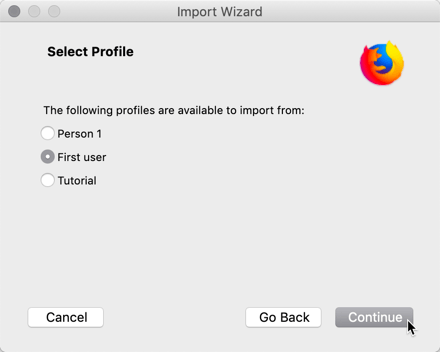 Switching Chrome To Firefox Import Data User Selection