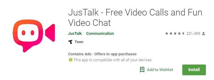 Android Video Calls Justalk