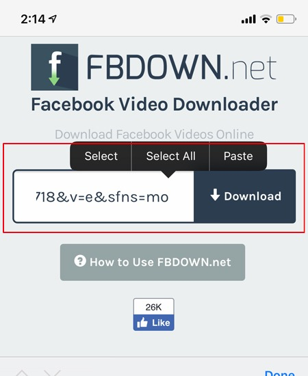Download Facebook Videos Paste Link