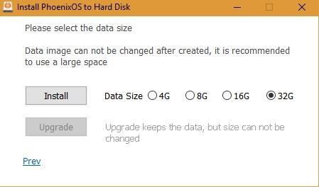 Install Phoenix Os 32g Hard Disk