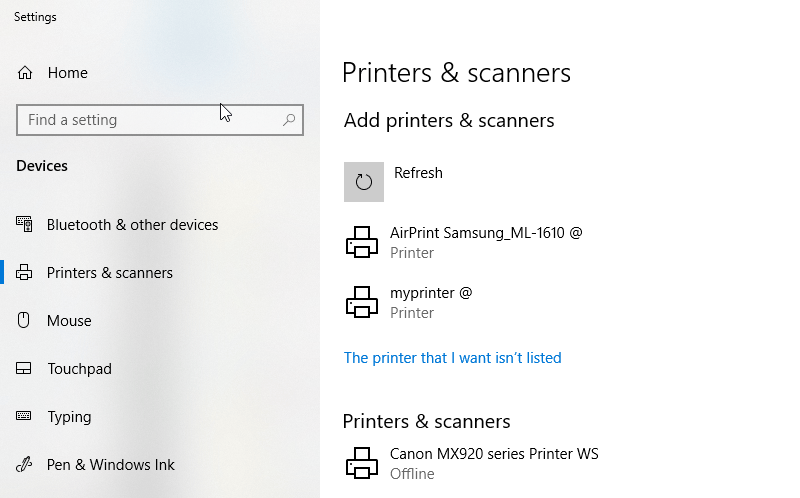 Raspberry Pi Add Printer Windows