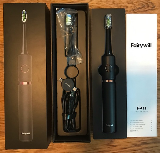 Review Fairywill Toothbrush Contents