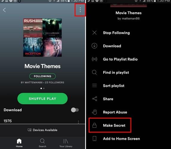 Spotify Secretandroid