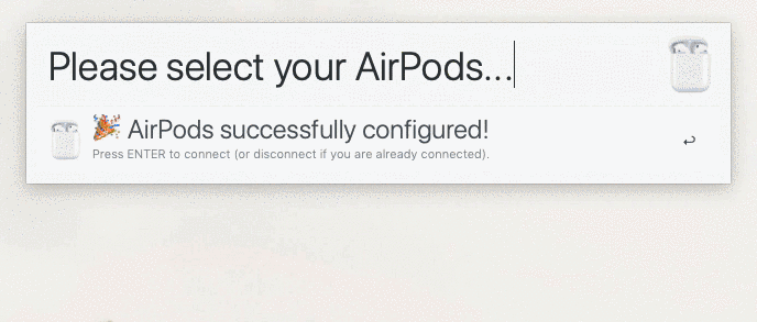 Alfred Workflows Airpods Connector