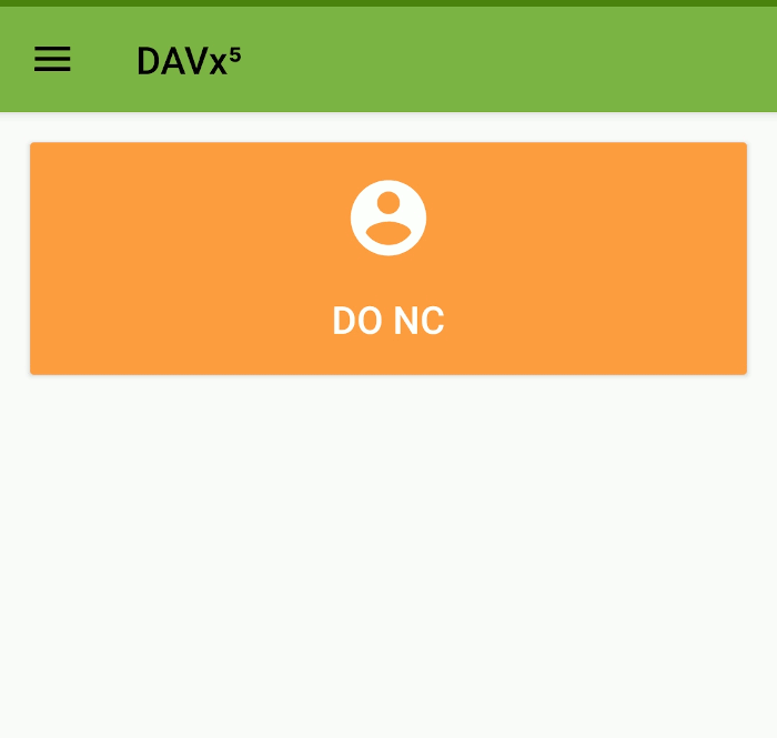 Android Davx5 Sync Caldav Carddav