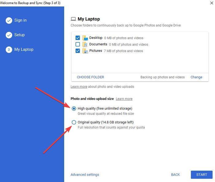 Backup Google Photos Backup And Sync Backup Folders Image Quality