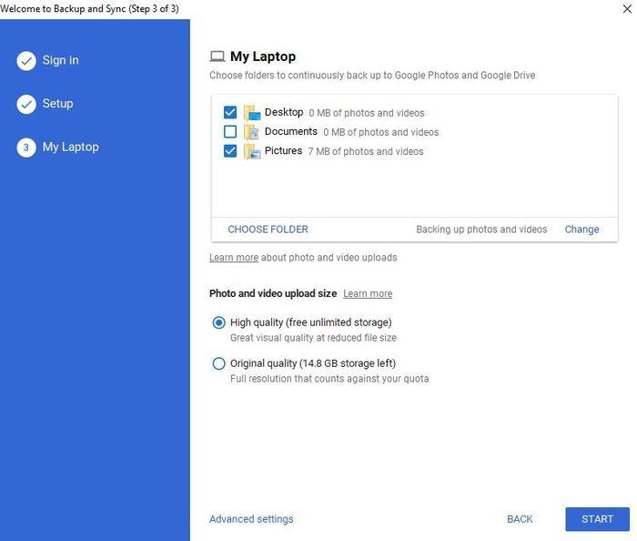 Backup Google Photos Backup And Sync Backup Folders