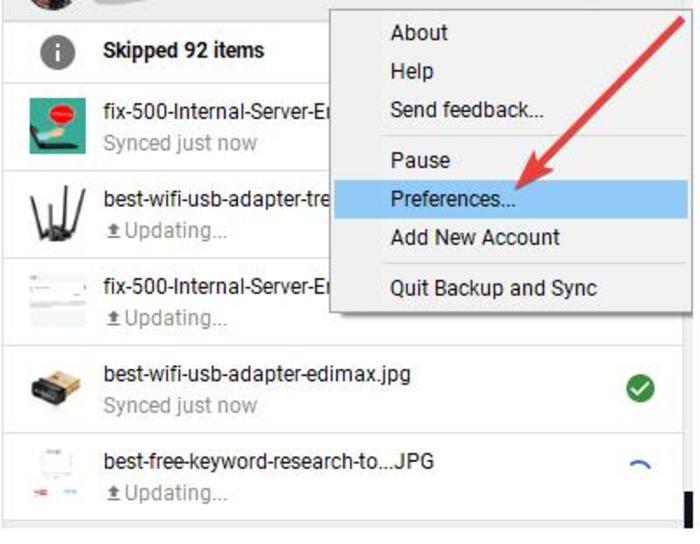 Backup Google Photos Backup And Sync Preferences