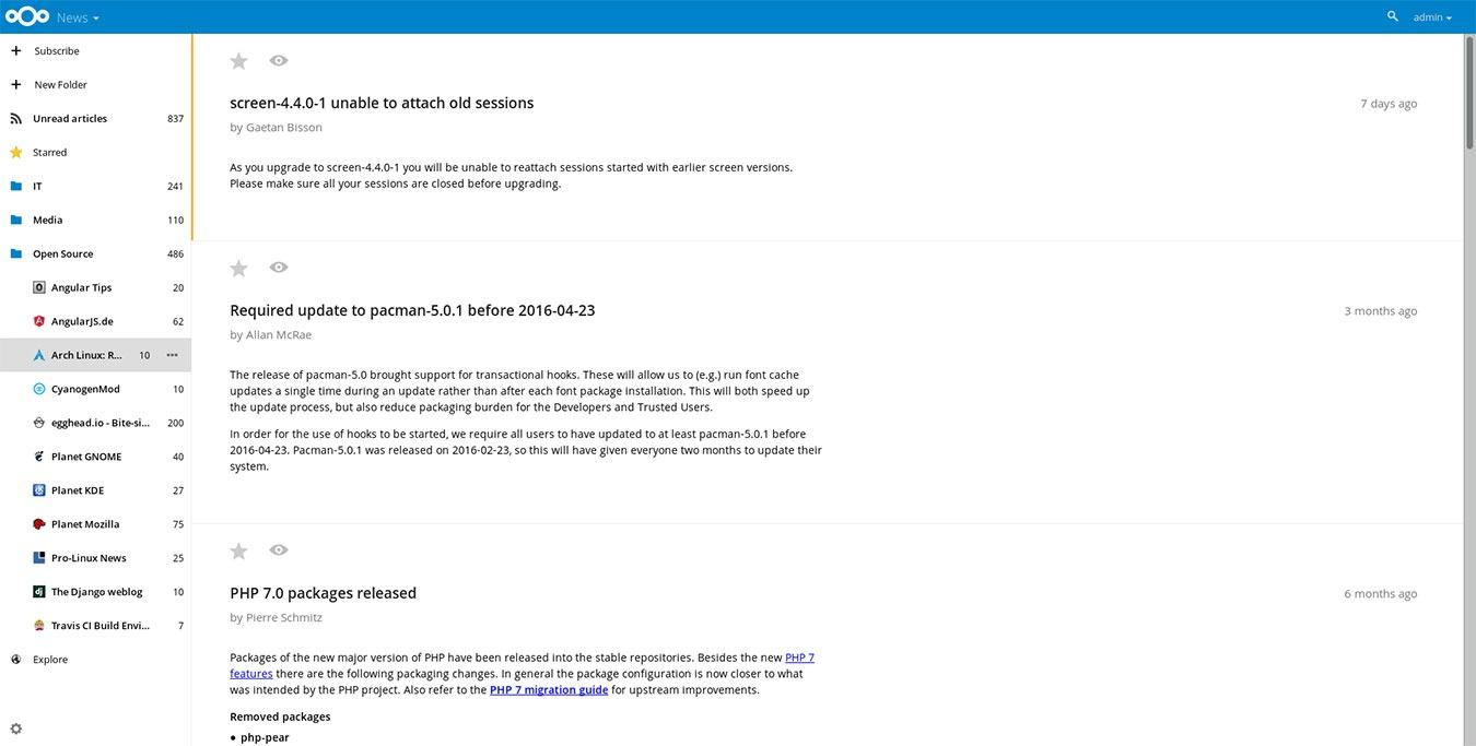 Best Nextcloud Apps Server News