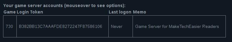 Csgo Server Gslt Example