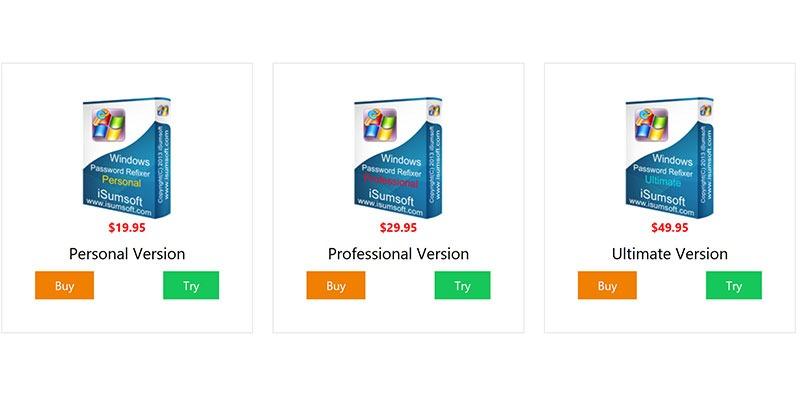 Isumsoft Windows Password Refixer Review Pricing