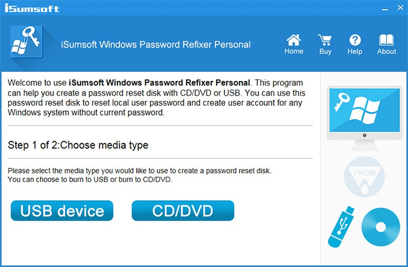 Isumsoft Windows Password Refixer Review Start Screen