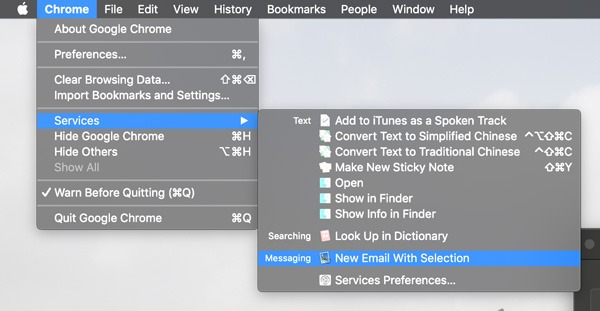 Macos Services Options