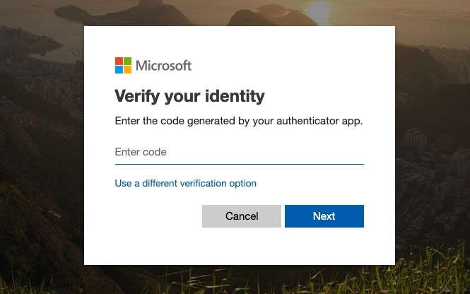 Microsoft Outlook Verify Identity