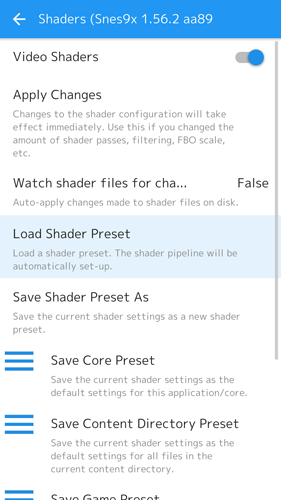 Retroarch Android Guide Shaders