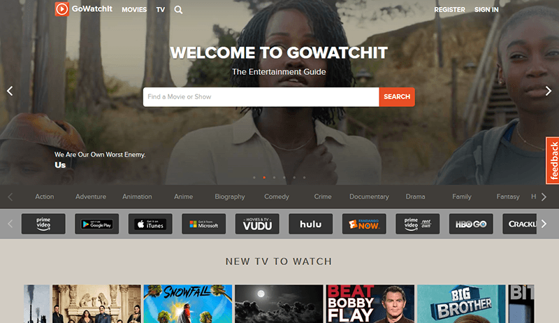 Streaming Services Tools Gowatchit