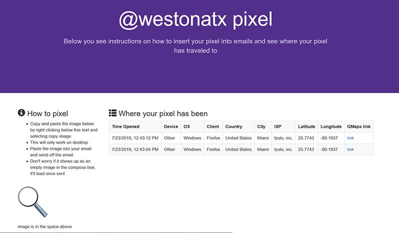 Tracking Pixel Supertracker Test