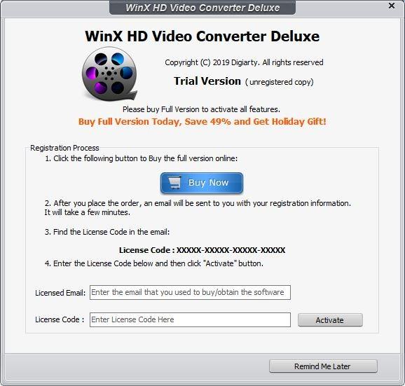 Winx Video Converter Register