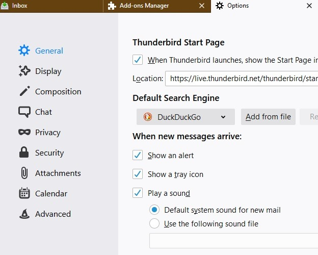 Add Duckduckgo To Mozilla Thunderbird