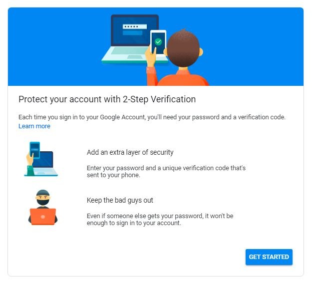Android Security Key 2 Step Verification Site
