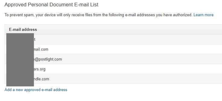 Android Web To Kindle Approved Email Addresses